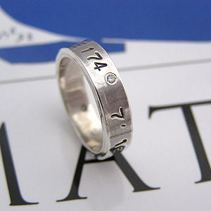 Silver Personalised Ring