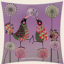 Personalised Love Birds Print close-up