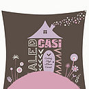 Personalised Home Sweet Home Print 2 Name Close-Up