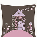 Personalised Home Sweet Home Print 4 Name Close-Up