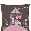 Personalised Home Sweet Home Print 5 Name Close-Up