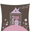 Personalised Home Sweet Home Print 6 Name Close-Up