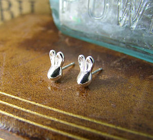 Rabbit Stud Earrings - earrings