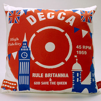 Decca Rule Britannia Cushion
