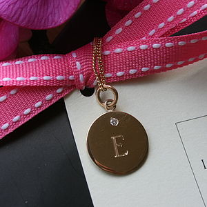 Gold And Diamond Engraved Charm Necklace - necklaces & pendants