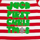 'First Christmas' Romper Close Up