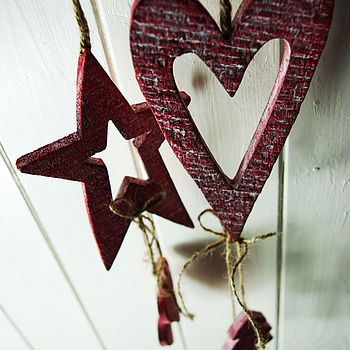 Red Washed Hanger Decoration