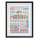 British Puddings Framed Print