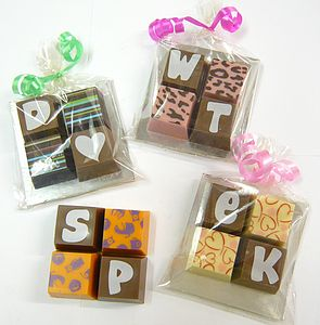 Personalised Chocolate Squares - home