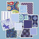 Blues Fabric Scheme