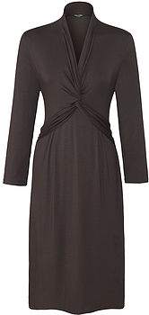 Dark Cocoa Easy Jersey Dress