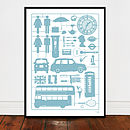 Airfix London Screen Print Large Teal