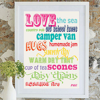 Word Art Print - Camper Lovers
