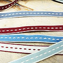 Ribbon: Stitched Cotton Collection 5m Lengths