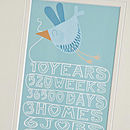 Personalised 'Two Hearts One Love' Print Close-Up Mount