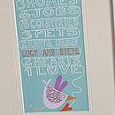 Personalised 'Two Hearts One Love' Print Close-Up Framed