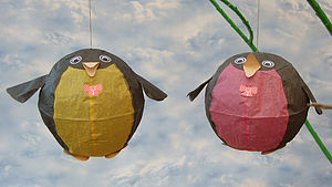 Mr And Mrs Penguin Paper Balloons - children's parties