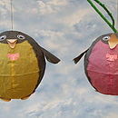 Mr And Mrs Penguin Paper Balloons