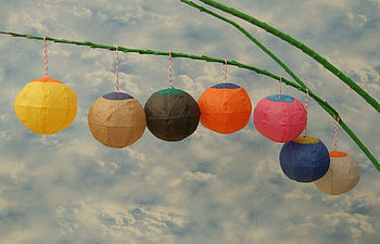 Seven Coloured Paper Balloon Balls
