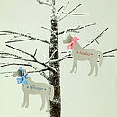 Personalised White Christmas Horses
