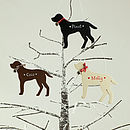 Personalised Christmas Labrador Dog Decoration