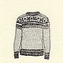 Hand Printed Christmas Jumper Card