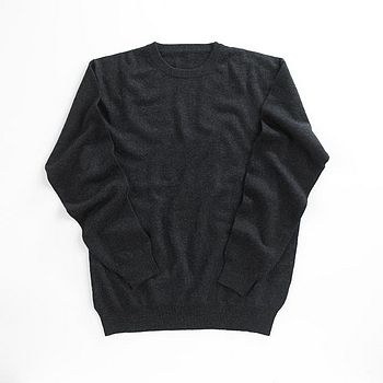 Crew Neck Men's 100% Cashmere Jumper