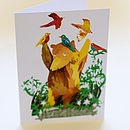 Bear and Birds card