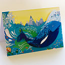 Whale in the Waves card