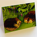 Hungry Hedgehogs Card