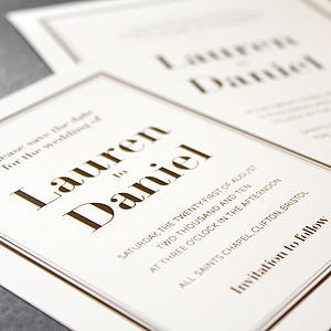 Florence Wedding Stationery Range - invitations