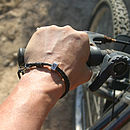 Sportsman Silver & Leather Bracelet