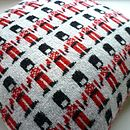 40cm Knitted Lambswool London Soldiers Cushion