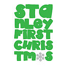 'First Christmas' Long Name Example