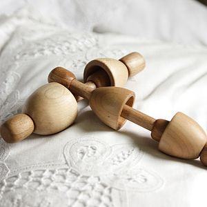 Wooden Egg Rattle - traditional toys & games