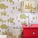 ''Ere be dragons' Grey-Lilac Wallpaper