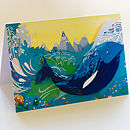 Whale In The Waves Greetings Card