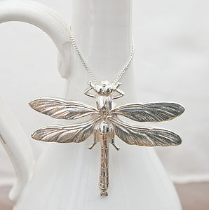 Silver Or Gold Dragonfly Pendant - necklaces & pendants