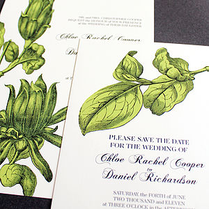Magnolia Wedding Stationery Range - invitations