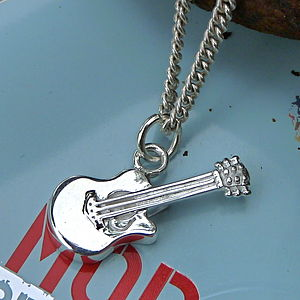Guitar Pendant - men's jewellery