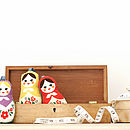 Set Of Three Russian Doll Decorations