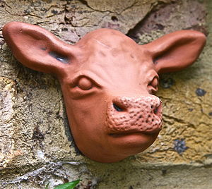 Magnetic Terracotta Animal Head - sculptures & ornaments