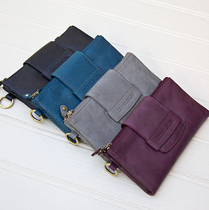 Alandria Leather Wallet And Clutch - bags & purses