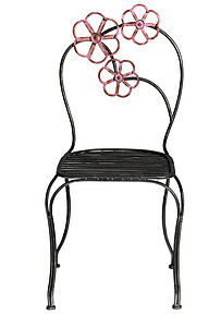 Floral Metal Chair By Nordal - furniture