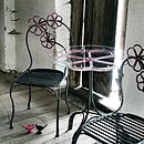 Floral Metal Chair By Nordal