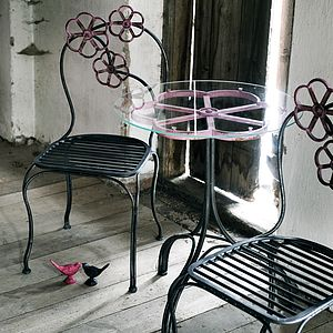 Floral Glass Table By Nordal - furniture