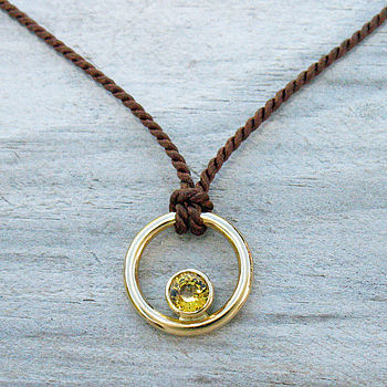 Handmade Yellow Sapphire 18ct Gold Necklace