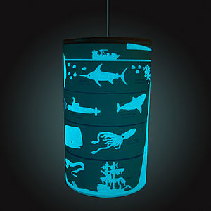 Seascape Glow-In-The-Dark Lampshade - lighting