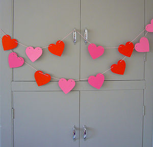 Heart Garland - outdoor decorations