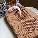 Hand Knit Bobble Effect Hot Water Bottle